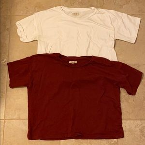 Madewell Cropped T Shirts